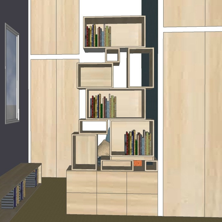 piece-de-vie-4-dessins-pour-1-maison